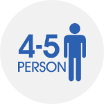 4-5 persons